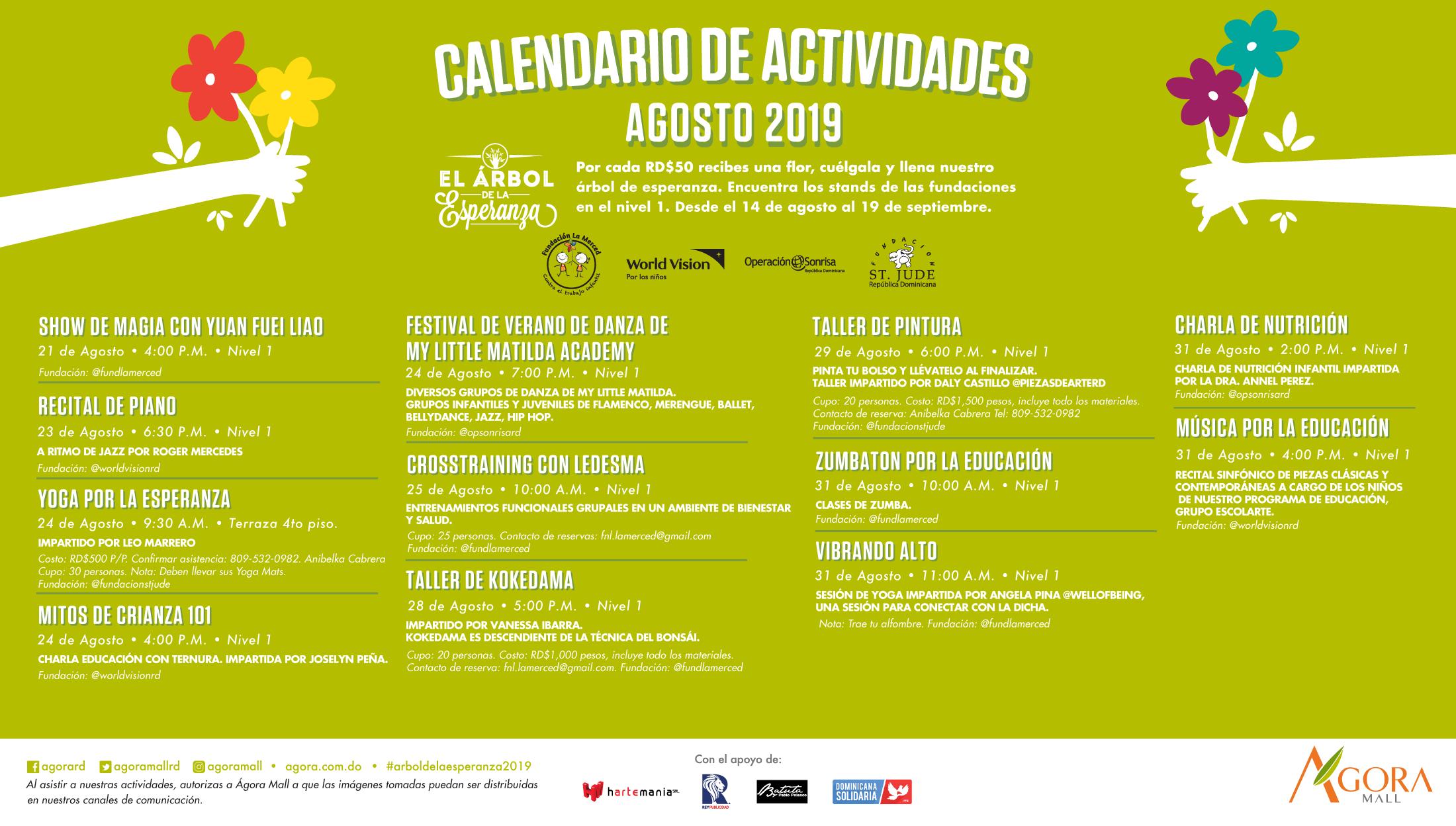 agora agosto calendario