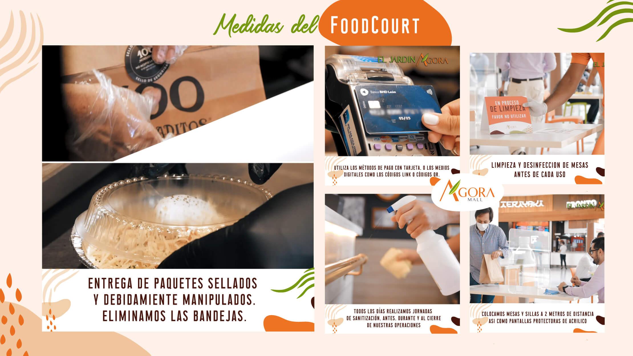 Medidas desinfección FoodCourt 2